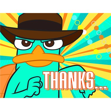 Disney Phineas and Ferb Agent P Thank-You Notes