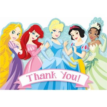 Disney 1st Birthday Princess Thank-You Notes