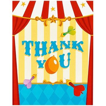 Carnival Games Thank-You Notes
