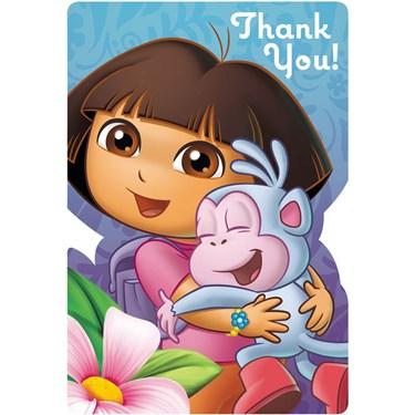 Dora's Flower Adventure Thank-You Notes