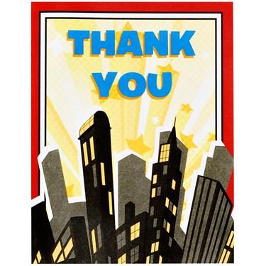 Superhero Comics Thank-You Notes