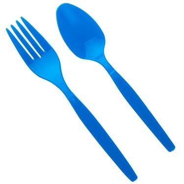 Forks & Spoons - Blue