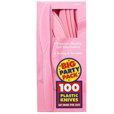 New Pink Big Party Pack Knives