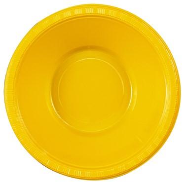 School Bus Yellow (Yellow) Plastic Bowls