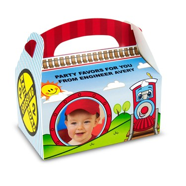 Two-Two Train 2nd Birthday Personalized Empty Favor Boxes