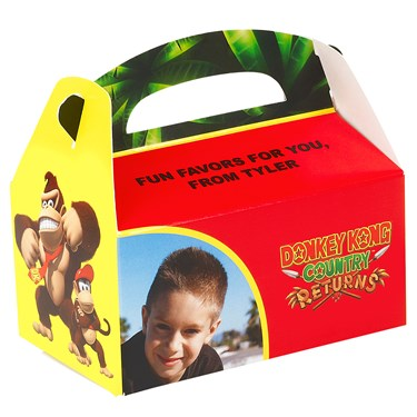 Donkey Kong Personalized Empty Favor Boxes