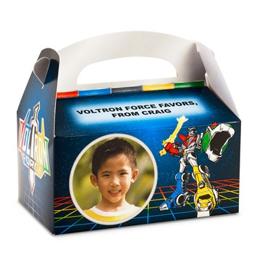 Voltron Force Personalized Empty Favor Boxes