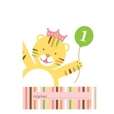 Sweet Safari Pink 1st Birthday Treat Bags