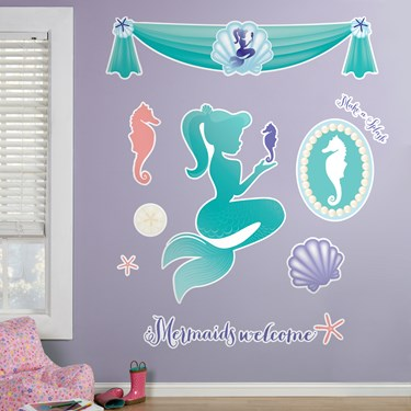 Mermaids Under the Sea Giant Wall Decals