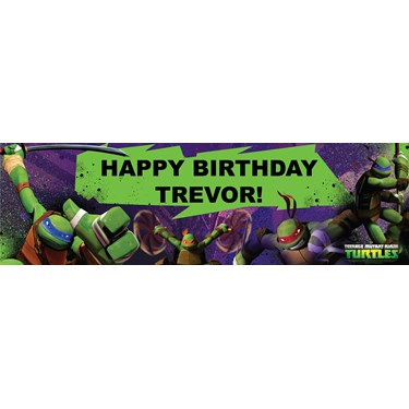 Nickelodeon Teenage Mutant Ninja Turtles - Personalized Vinyl Banner