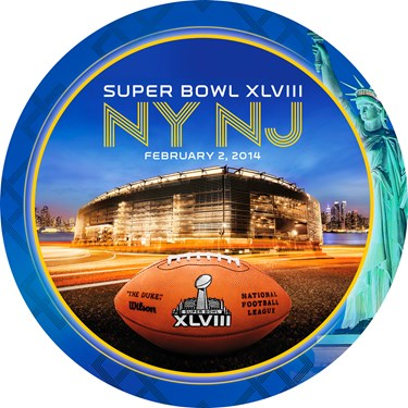 Super Bowl XLVIII Banquet Plates
