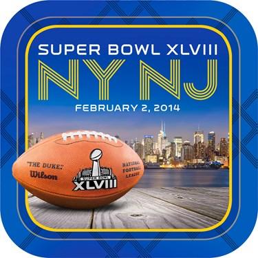 Super Bowl XLVIII Square Dessert Plates