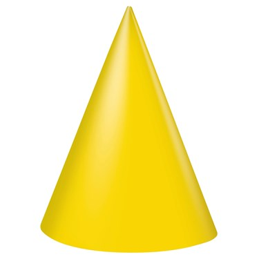 Yellow Cone Hats