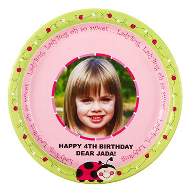Ladybugs: Oh So Sweet Personalized Dinner Plates