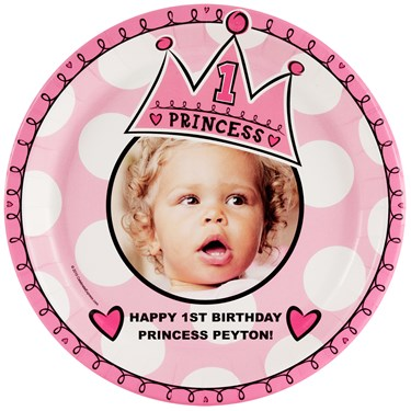 Birthday Princess 1st Personalized - Dinner Plate