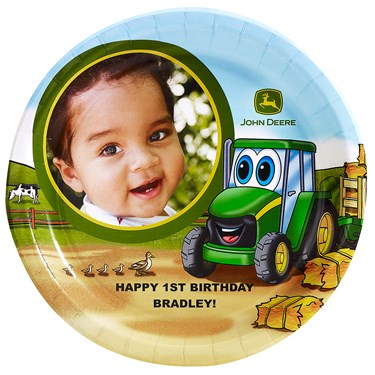 Johnny Tractor 1st Birthday - Personalized Dinner Plates