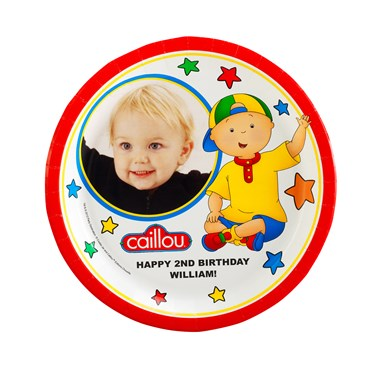 Caillou Personalized Dinner Plates
