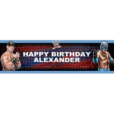 WWE Party - John Cena & Rey Mysterio Personalized Banner