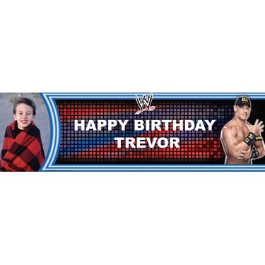 WWE Party - Personalized Photo Vinyl Banner