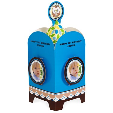 Look Whoo's 1 - Blue Personalized Centerpiece