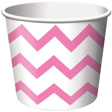 Chevron Stripe Treat Cups - Pink (6)