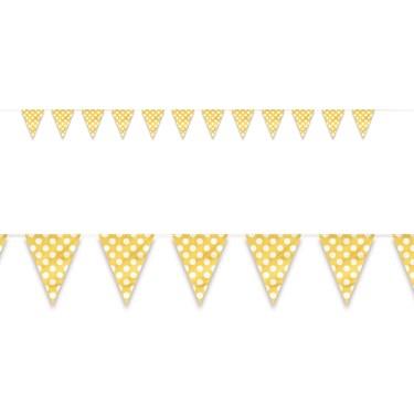 Yellow and White Dot Flag Banner