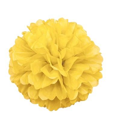 Yellow Hanging Puff Ball