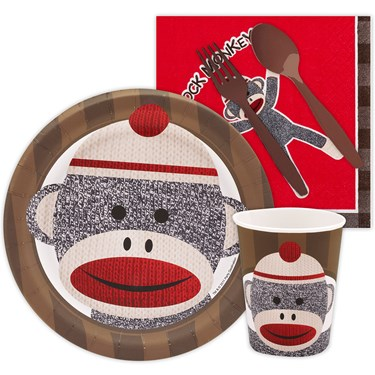 Sock Monkey Red Snack Party Pack