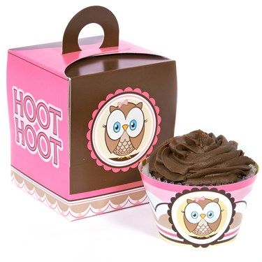Look Whoo's 1 Pink Cupcake Wrapper Combo Kit