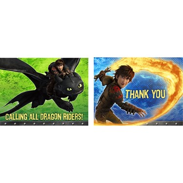 How to Train Your Dragon 2 - Invitations & Thank You Postcard Combo (8)