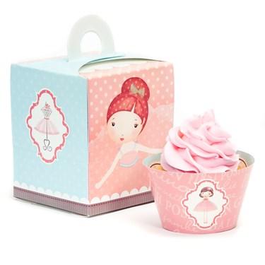 Ballerina Tutu Cupcake Wrapper & Box Kit
