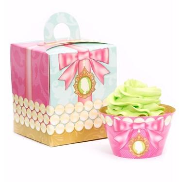 Let Them Eat Cake Cupcake Wrapper & Box Kit