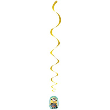 Minions Despicable Me - Hanging Swirl Decorations (3)