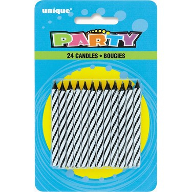 Black Party Candles (24)