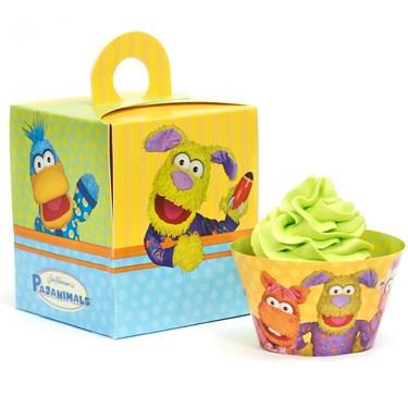 Pajanimals Cupcake Wrapper & Box Kit