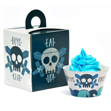 Boys Only Bash Cupcake Wrapper & Box Kit