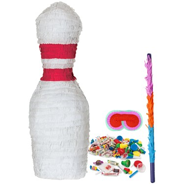 Bowling Pin Shaped Pinata Kit