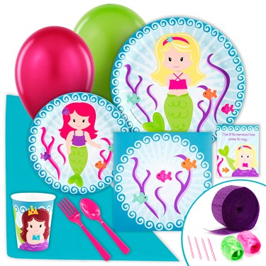 Mermaids Just Because Party Pack for 8
