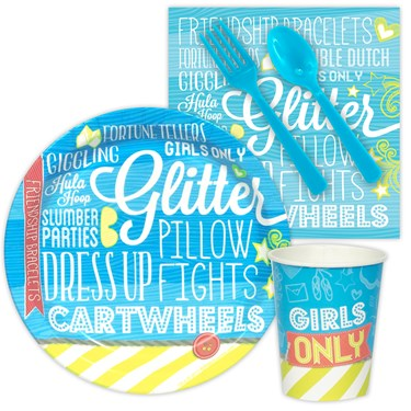 Girls Only Party Snack Party Pack
