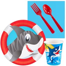 party supplies Sharks Value Party Pack