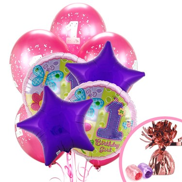 Hugs and Stitches 1st Birthday Balloon Bouquet