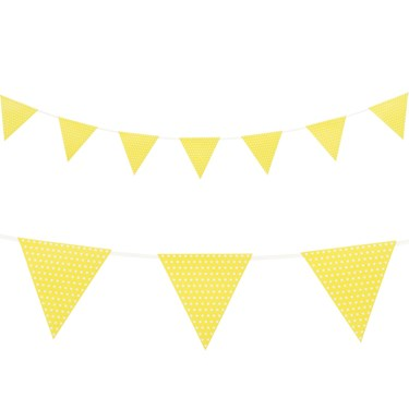 Yellow with Polka Dots - Paper Flag Banner (1)