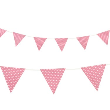 Pink with Polka Dots - Paper Flag Banner (1)