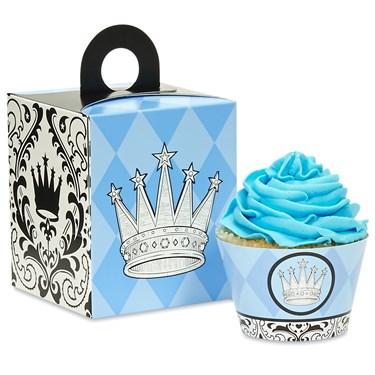 Elegant Prince Damask Cupcake Wrapper & Box Kit