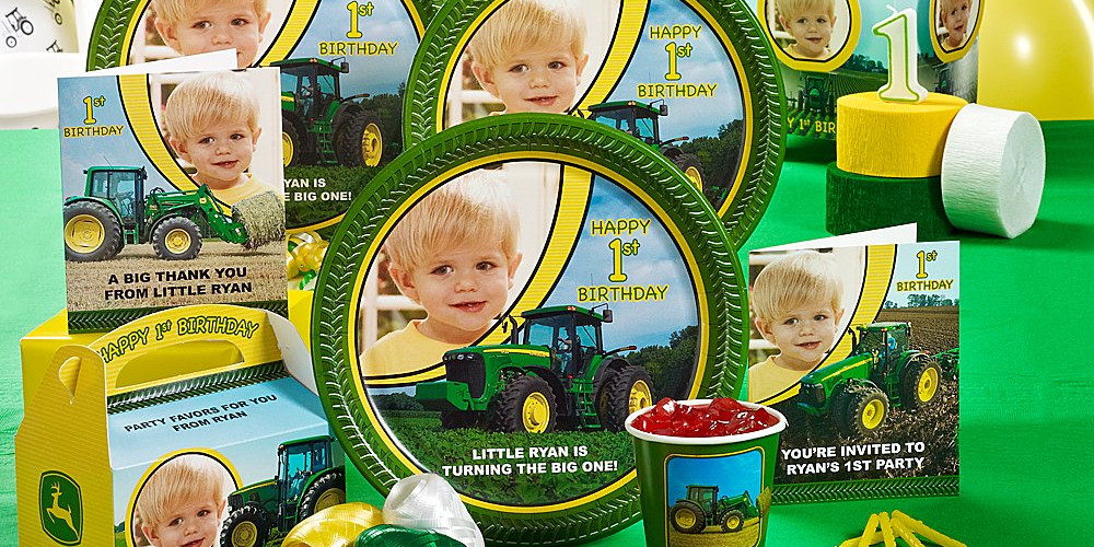 John Deere 1st Birthday Personalized Party In A Box