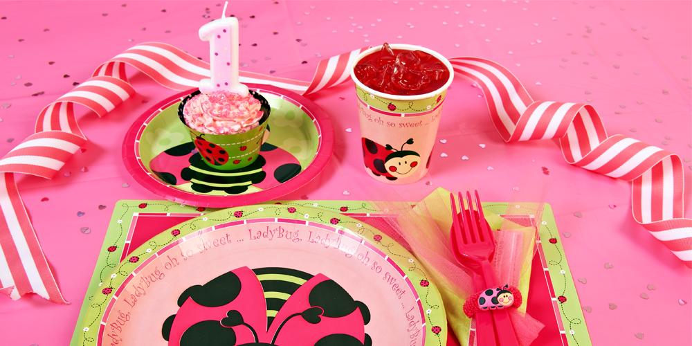 Ladybug oh so sweet 1st birthday party in a box birthdayexpress com