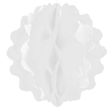 "8"" White Paper Honeycomb Ball"