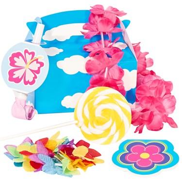 Summer Splash Luau Party Favor Box