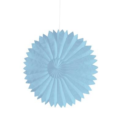 """Blue 10"""" Paper Tissue Fan"""