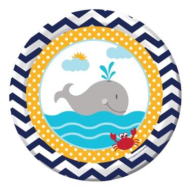 """Ahoy Matey 7"""" Cake Plates (8)"""